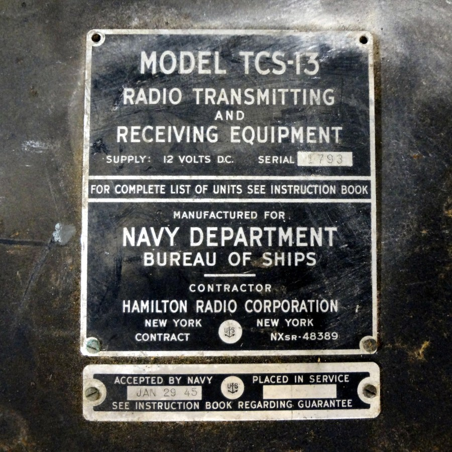 TCS-13 radio transmitting and receiving equipment