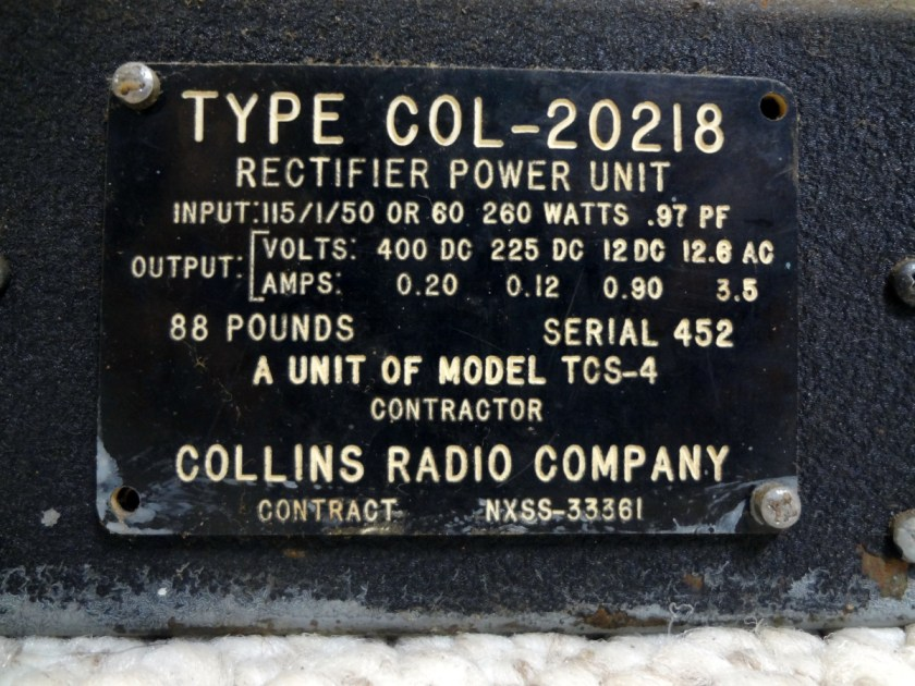 COL-20218 rectifier power unit