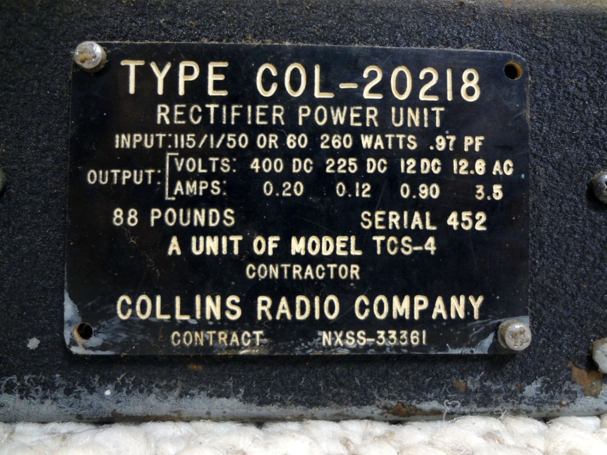COL-20218 rectifier power unit
