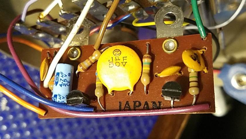 Astatic D-104 microphone circuitry