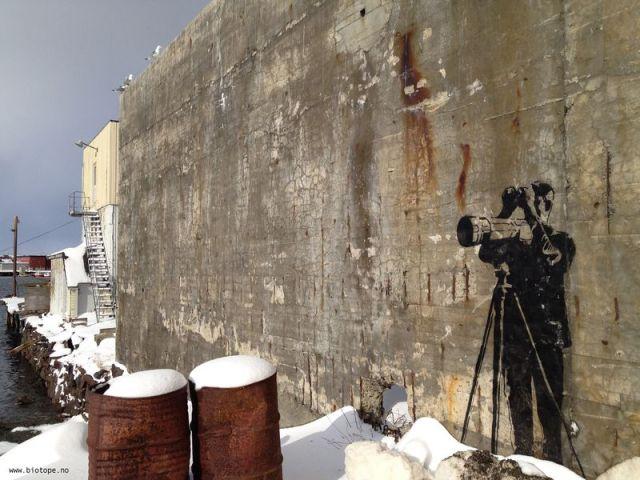 Arctic street art birder style Amundsen Vardø