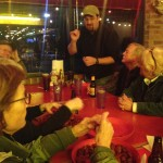 Dan Lane of Field Guides demonstrates proper crawfish-eating strategy.