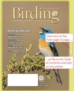 "This is a static image. It isn't live. Don't really click here where it says ""click here."" But when you get to that page at image at www2.aba.org/birding, just go through the steps shown on the image."