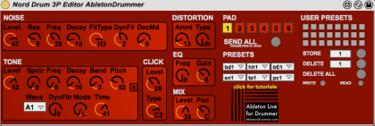 Nord Drum 3P Max for Live Editor