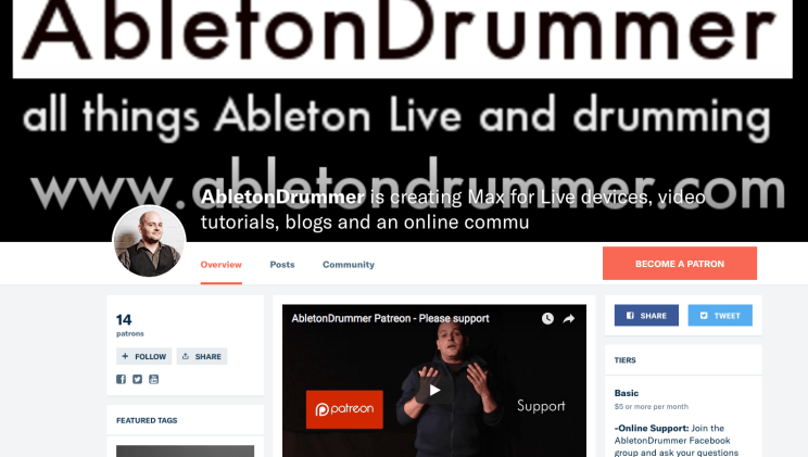 Ableton Live community for drummer
