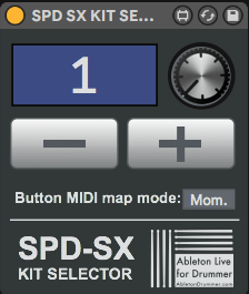 Control SPD-SX Kits from withing Ableton Live