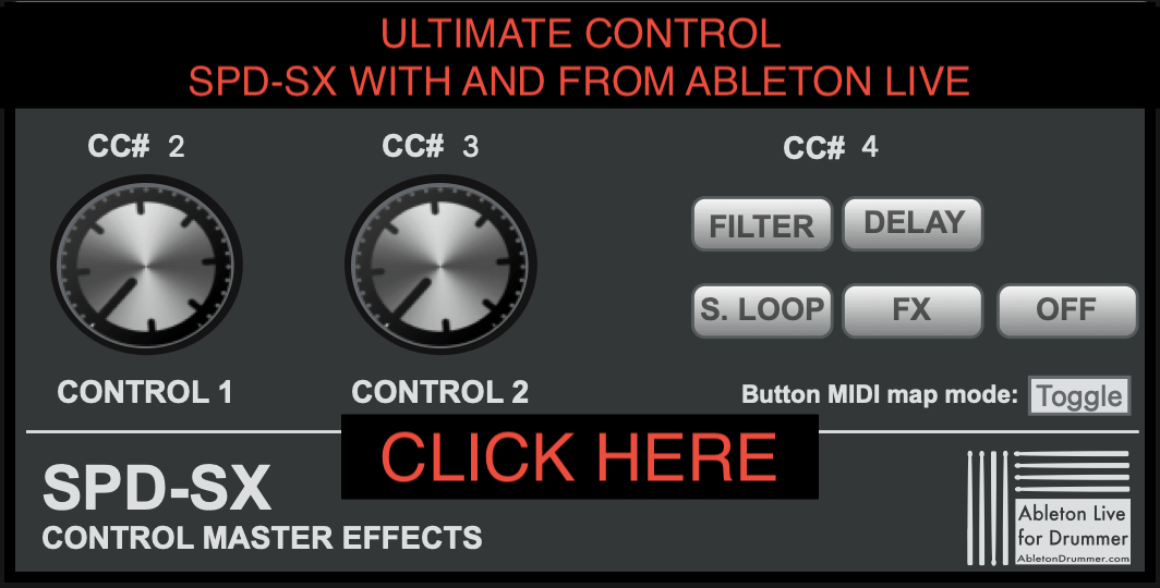 Control SPD-SX via ABLETON LIVE
