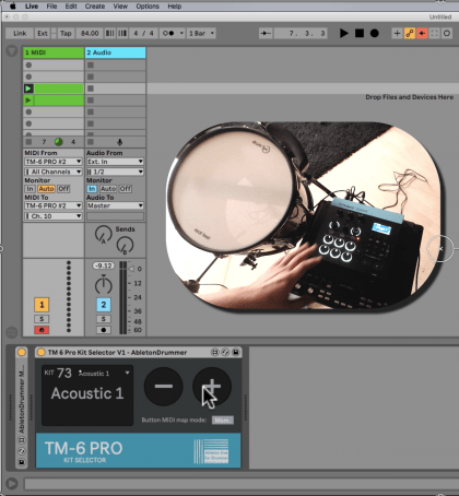 Max for Live device for Roland TM-6 pro