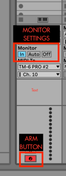 set ARM active in Ableton Live