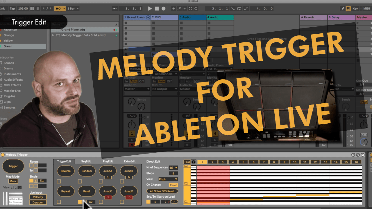 How to trigger melodies step by step in Ableton Live