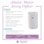 eMotion™ Motion-Sensing Diffuser Info Graphic