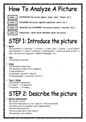 Décrire un document iconographie - Genlangues