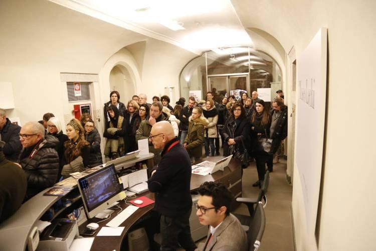 Al Museo Lechi di Montichiari durante l'inaugurazione