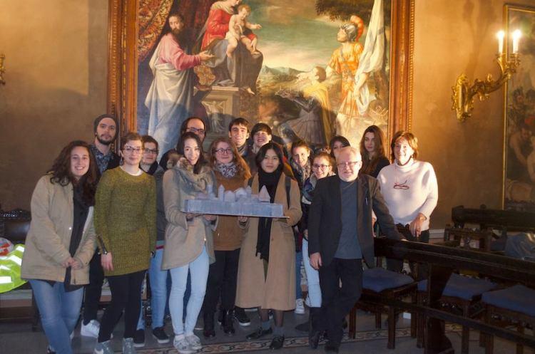 Gli studenti del I° anno del triennio di Didattica dell'Arte per i Musei, con i professori Vigo e Ragni