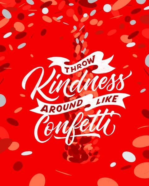 Manifesto pubblicitario realizzato da Stefan Kunz per Coca Cola in occasione del #WorldKindnessDay