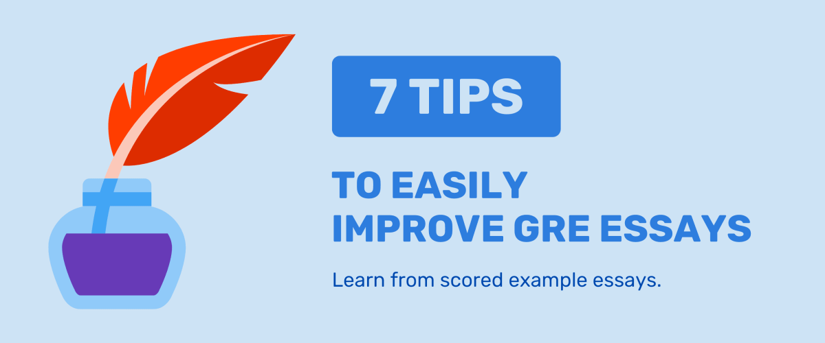 GRE essay tips with GRE essay examples