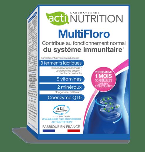MultiFloro Probiotiques pour  rééquilibrer votre flore intestinale et  favoriser votre perte de poids