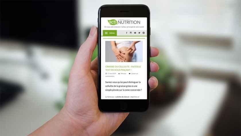 Application Actinutrition pour devenir acteur de sa santé