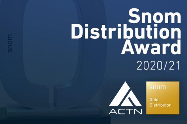 ACTN reçoit l'Award Snom Gold Distributor !
