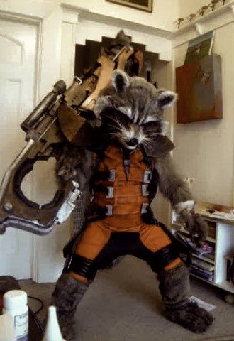 Lifelike Rocket Raccoon Costume Adafruit Industries Makers Hackers Artists Designers And