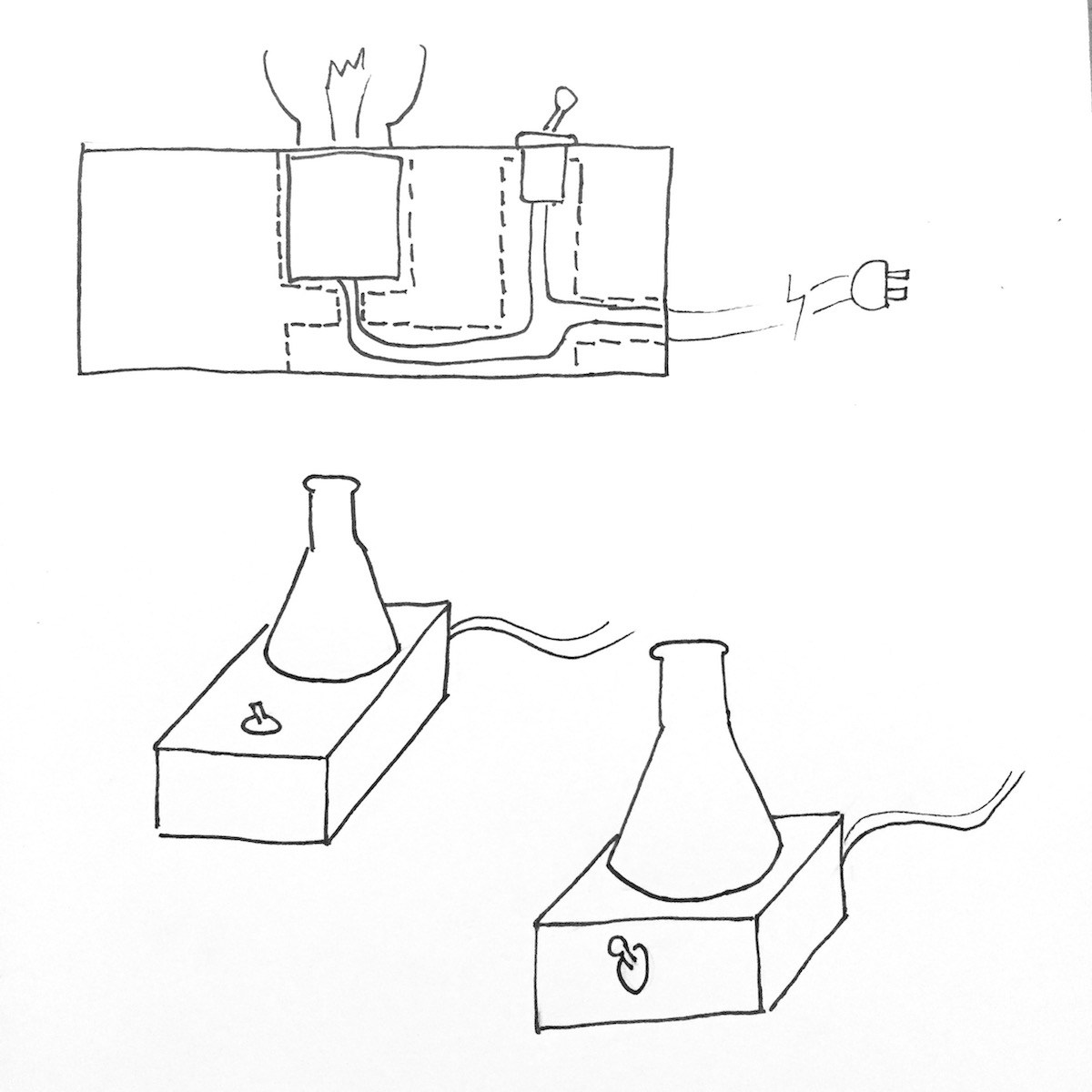 The Laboratory Lamp Is A Bulb Inside An Erlenmeyer Flask