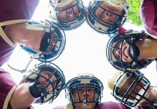 Football Team having huddle