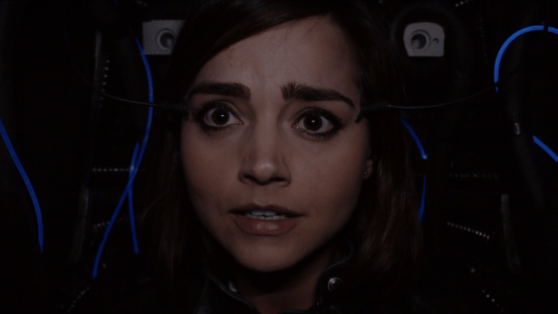 Clara inside a Dalek in The Witch's Familiar