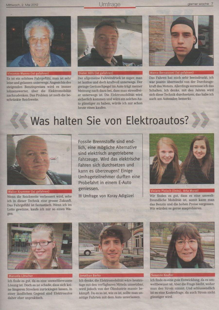 Umfrage zur Elektromobilität