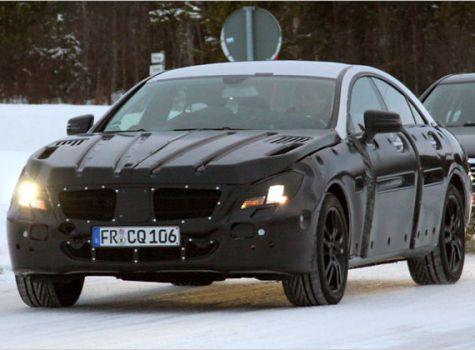 Mercedes CLS Erlkönig mit Plastik getarnt