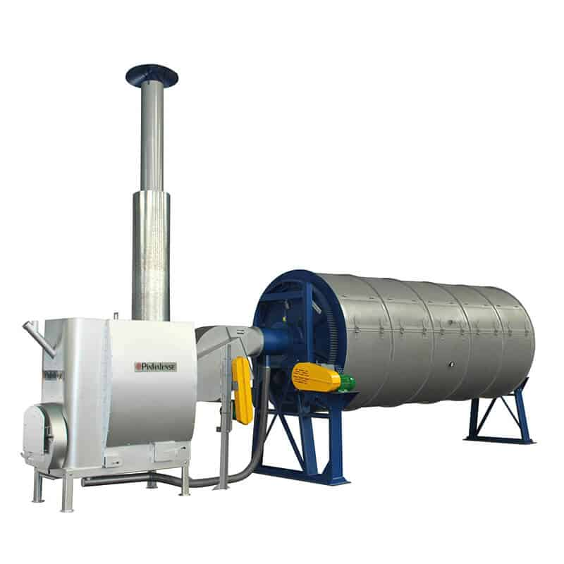 ilustração de um secador rotativo