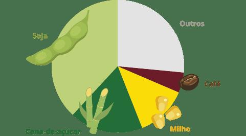 principais cultivos agrícolas do Brasil - IBGE - agroquímicos