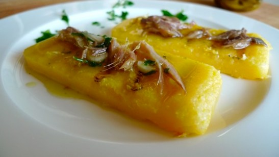 ricette-antipasti-Poenta e Scopeton (Polenta e Aringa)
