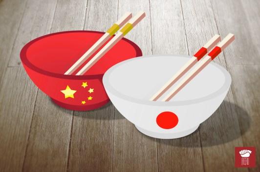 Quais as diferenças entre comida japonesa e comida chinesa