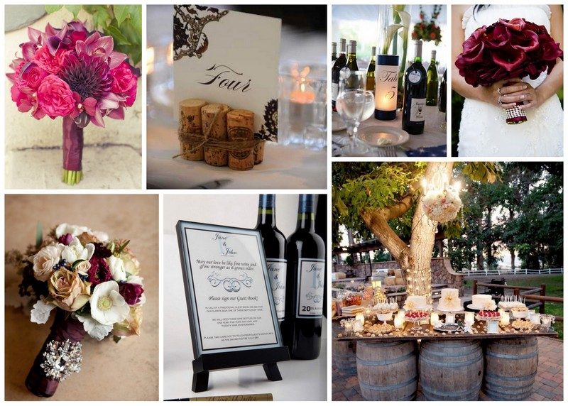 Wine Inspired Wedding Decor