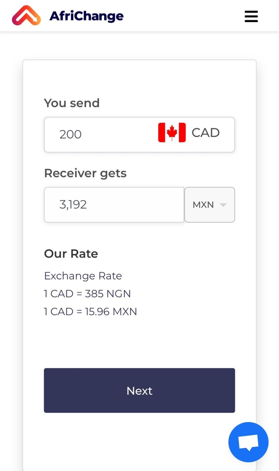 send money from canada to mexico