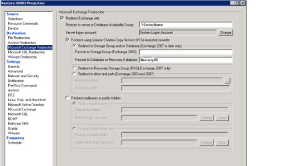 restore Exchange database 1