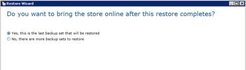 restore Exchange database6