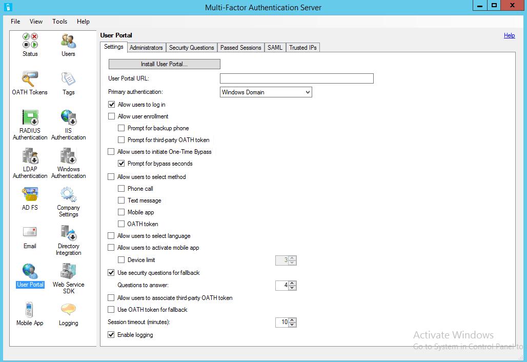 Azure Multi-Factor Authentication server 12