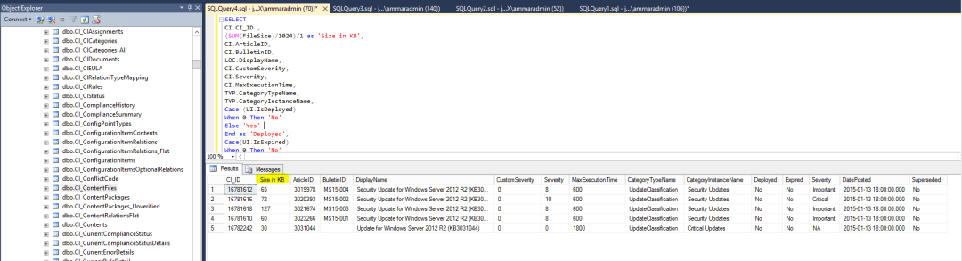 configuration manager update size 6