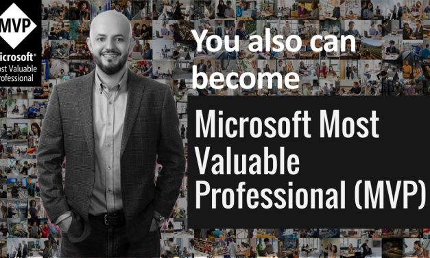 You Can Also Become  Microsoft MVP