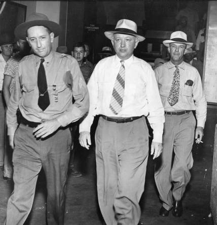 The REAL John Wallace, as he made his way into the county courthouse fro trial, Coweta County, Georgia, circa 1949