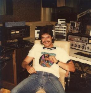 Airlift Mike (Ziants) aka John Saint John in the WIFI Production Studios 1982 (thanks to brother Andre Gardner for the pic)