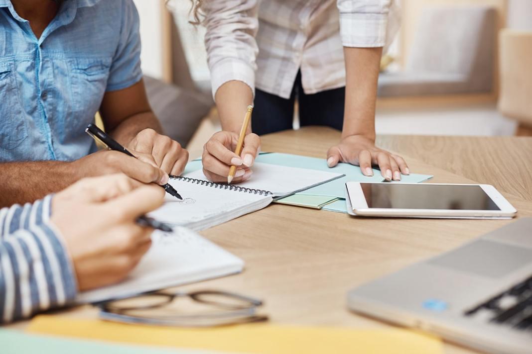 HR brainstorming to create an employee handbook