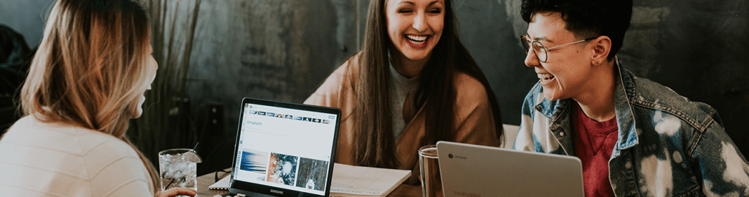 Employees laughing and enjoying themselves showing a positive employee experience