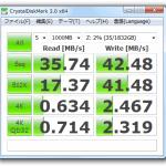 QNAP TS-110(NAS)HDD読み書き速度計測結果