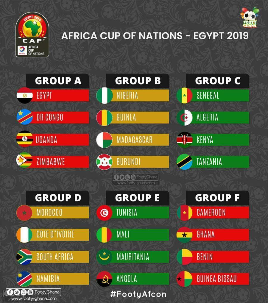 جدول مباريات كأس الأمم الأفريقية 2019 ومواعيدها بالتفصيل