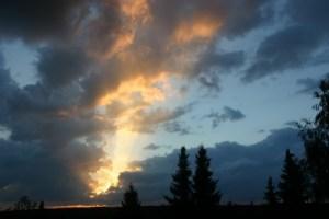 Foto vom Abendhimmel