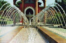 Foto von einem orientalischen Springbrunnen