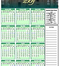 Islamic Calendar for 2009 CE