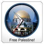 Solidarity for Palestine Badge Clocks